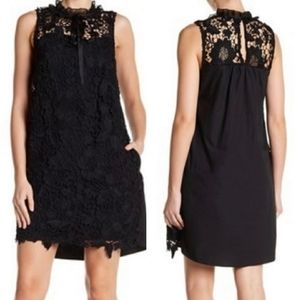 Kensie Sleeveless Front Crochet Lace Knit Dress